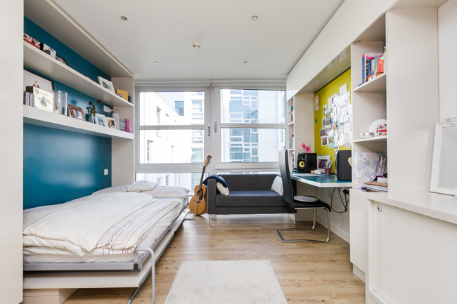 Student apartment exterior : Derwent students the hive london